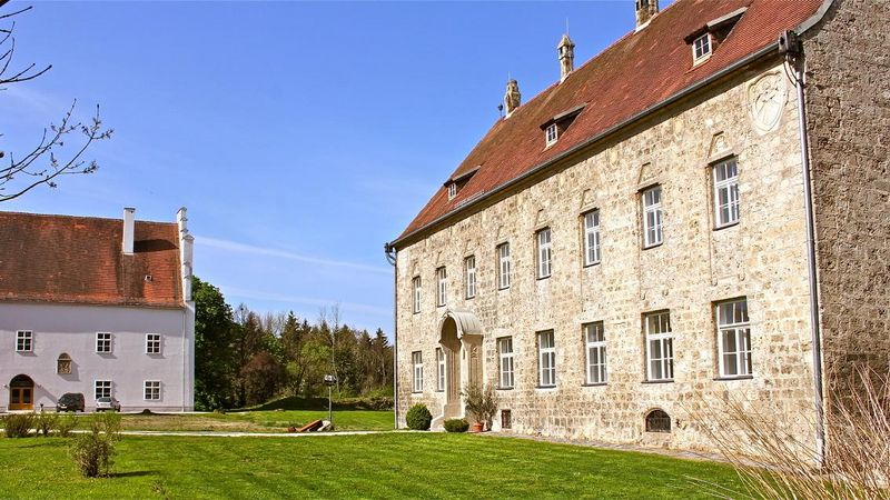 Historisches Burgareal in Obernberg am Inn